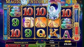 Magic Unicorn slots - 162 win!