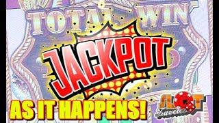 • LIVE SESSION JACKPOT •  AS IT HAPPENS HANDPAY!! MAX BET BUFFALO GOLD