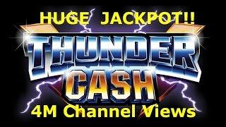 ** MONSTER JACKPOT HANDPAY ** High Limit $10 Thundercash Slot Machine Pokie Ainsworth