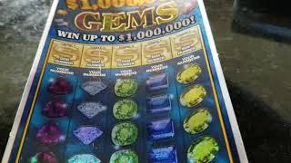 $1,000,000 GEMS $10 MICHIGAN LOTTERY SCRATCH OFF! CONGRATS TO OUR $1,500 WINNER!
