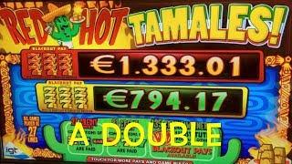 TRIPLE RED HOT 777 & RED HOT TAMALES with Win - IGT Slot Machine - Walk Around Holland Casino Venlo
