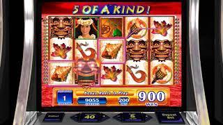 KILAUEA Video Video Slot Casino Game with a FREE SPIN BONUS