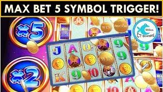 SUPER FREE GAMES! POMPEII WONDER 4 TOWER SLOT MACHINE - ALL MAX BET!