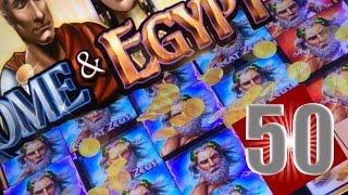 • • SUPER BIG WINS • •  MAX 50 FREE SPINS ROME AND EGYPT 5c - GREAT ZEUS - SLOT MACHINE BONUS