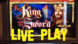 The King and the Sword Live Play $10.00/spin WMS Slot Machine