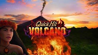 Quick Hit Volcano Slot Machine Bonus - New Game