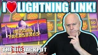 $1,000 •Go BIG or Go BUST• Lightning Link Bengal Treasures   The Big Jackpot