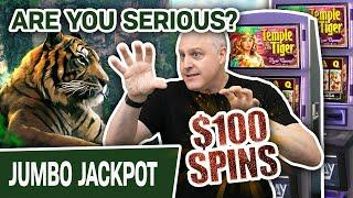 ⁉ ARE YOU SERIOUS?! $100 SPINS FOR RAJA!? ⋆ Slots ⋆ J-J-J-JACKPOT On Temple of the Tiger