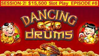 Dancing Drums Slot Machine Live Play w/$8.80 Max Bet | Season 2 EPISODE #6