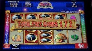 Quest for Riches   Konami - JACKPOT HANDPAY! 556 Free Spins Slot Machine Bonus