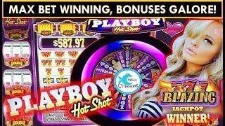 *NEW* PLAYBOY HOT SHOT Slot Machine - MAX BET BIG WINS!