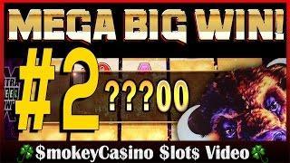 #2 BUFFALO Deluxe Slot Machine MEGA BIG LINE HIT WIN! - Aristocrat
