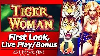 Tiger Woman Slot - First Look, Live Play and Free Spins Bonus