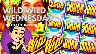 ⋆ Slots ⋆WILD WILD WEDNESDAY!⋆ Slots ⋆ QUEST FOR A JACKPOT [EP 27] ⋆ Slots ⋆ WILD WILD PEARL Slot Machine (Aristocrat)