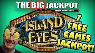 • 7 FREE GAMES JACKPOT on ISLAND EYES BIG WIN! •