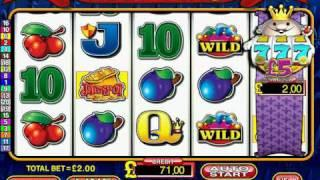 1 Scroll Feature on Astra's Reel King S16 Fruit Machine £500 Jackpot Sim