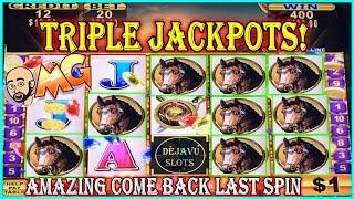 • TRIPLE JACKPOTS • MOST AMAZING COME BACK ON LAST SPIN •️ HIGH LIMIT SLOT MACHINE