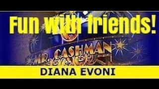 MR CASHMAN SLOT MACHINE BONUS-Winning with friends