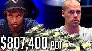 $807,400 Pot And Phil Ivey Has A FULL HOUSE! What Is Patrik Antonius Playing Back With?
