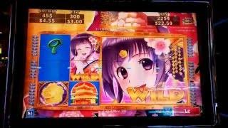Sakura Lady Bonus at MAX Bet and HUGE WIN with Multiple Retriggers at Pechanga Resort