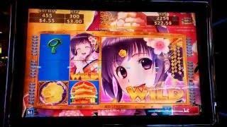 Sakura Lady Bonus at MAX Bet and HUGE WIN with Multiple Retriggers at Pechanga Resort