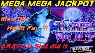 •MEGA MEGA JACKPOT ! •Timber Wolf Deluxe Slot machine •HAND PAY (MAX BET $2.50)