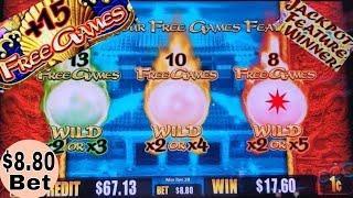 Dragon Of The Eastern Ocean Slot Machine •$8.80 Max Bet• BONUS WIN w/RETRIGGERS