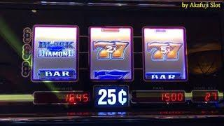 "Akafuji Slot ""Black Diamond"" I continued to play one slot machine. Got $1,600. San Manuel Casino"