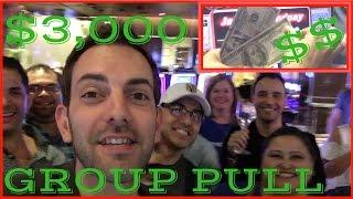 Best Group Pull Win Yet! • $3,000 Group Pull • HL Slot Machines at Caesars and Cosmo Las Vegas