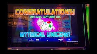 2ND SPIN & WE CAPTURE THE UNICOW! $1.50 SPINS at NEW VERSION of INVADERS RETURN FROM PLANET MOOLAH
