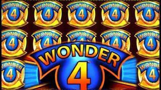 •SUPER WILD WIN!• WONDER 4 STACKS • COYOTE QUEEN (Aristocrat) Slot Machine Bonus BIG WIN! [REPOST]