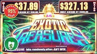 Exotic Treasures 95% payback slot machine, bonus