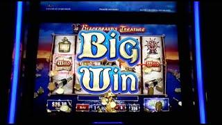 "***MAX BET-BIG WIN*** ""Blackbeards Treasure"" Slot Machine as it happened"