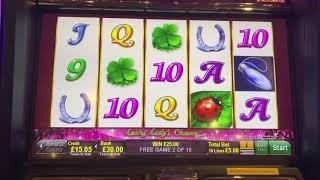 Lucky Lady's Charm Deluxe £5 max bet bonus