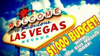 """$1000 BUDGET IN LAS VEGAS WITH """"THE SLOT MASTER"""""""