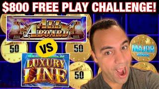 ⋆ Slots ⋆ $800 Free Play TRAIN Challenge at Cosmo Las Vegas - All Aboard vs Cash Express Luxury Line