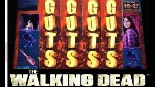JACKPOT #1 The WALKING DEAD slot machine Bonus HANDPAY!