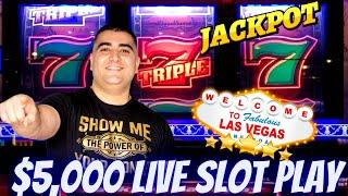 $5,000 On High Limit Slot Machines - HANDPAY JACKPOT & Live Slot Play In Las Vegas At The Cosmo !