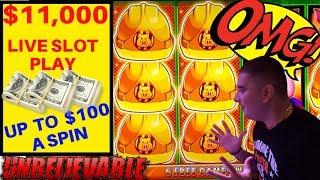 Up To $100 a Spin ! $11,000 •Live Premiere Stream On High Limit Slot Machines At The COSMO In Vegas