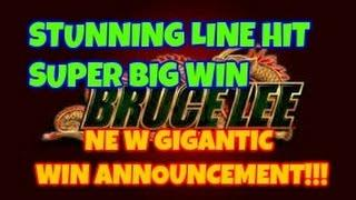 BRUCE LEE EXCELLENT SUPER BIG LINE HIT AND EXCITING MESSAGE