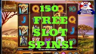 150 FREE Slot Machine Spins From Drake Casino!
