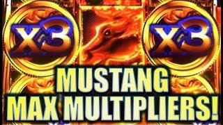 •MAX MULTIPLIERS!• BIG WINS!! MUSTANG FORTUNE, EXTREME PHOENIX, MORE! Slot Machine Bonus