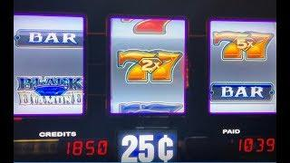 "Endless Win•BLACK DIAMOND Quarter Slot Machine, Max Bet $6.75 ""Fun Game"" San Manuel, Akafujislot"