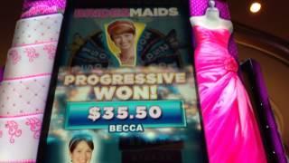 Bridesmaid Wedding Party Progressive Bonus At Max Bet