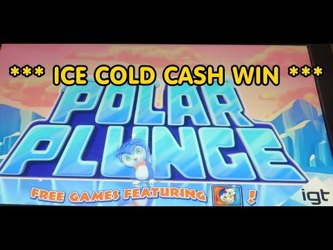 IGT - Polar Plunge!  Nice Win!  2-cent denomination