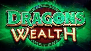 NEW GAME!  WINNING on DRAGONS WEALTH SLOT MACHINE POKIE BONUSES PROGRESSIVES - PECHANGA