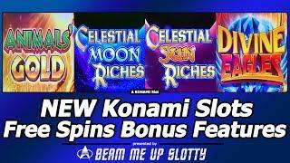 New Konami Slot Bonuses - Animals' Gold, Celestial Moon/Sun Riches and Divine Eagles