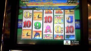 Slot machine bonus win on Tahiti Magic at Mt Airy Casino