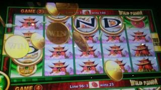 BIG WIN - Wonder 4 Wonder Wheel Wild Panda Bonus & Line Hit Slot Machine