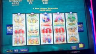 Aristocrat Dime Denom Whales of Cash free spin bonus 1 of 3